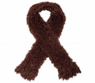 Flausch-Schal, braun von APART