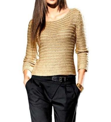 Pullover, goldfarben von PATRIZIA DINI