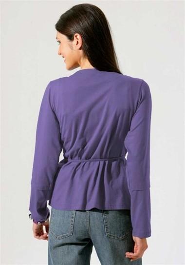 Shirtjacke mit Gürtel lila