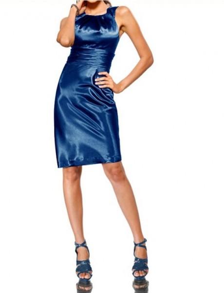 Satin-Abendkleid blau von Heine