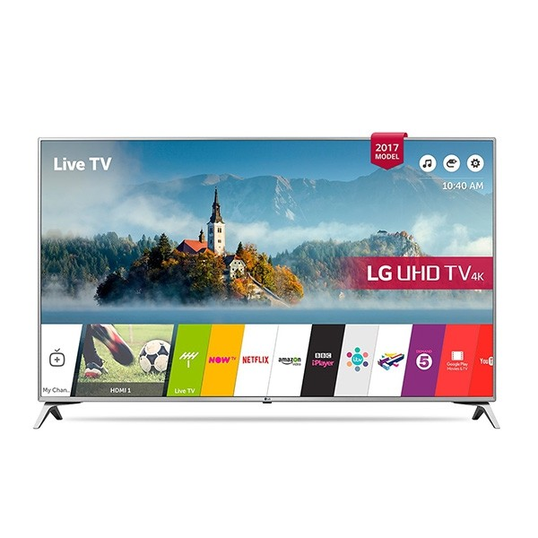 "Smart TV LG 49UJ651V 49"" Ultra HD 4K LED USB x 2 HDR Wifi Silberfarben"