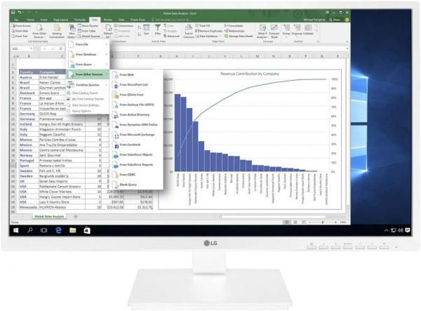 LG LCD Monitor 24BK550Y W 23.8 Zoll IPS Full HD White