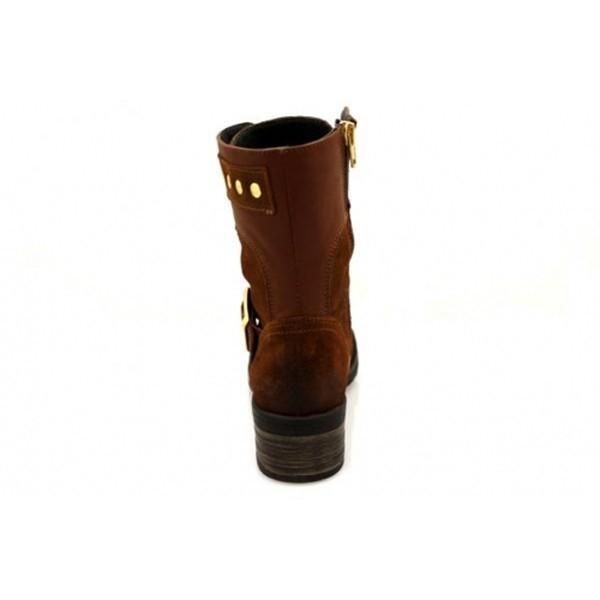 Nice Feet - Schnürstiefelette - NF1404-016 - Cognac