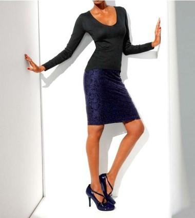 Bodyform-Pullover, schwarz von CLASS INTERNATIONAL