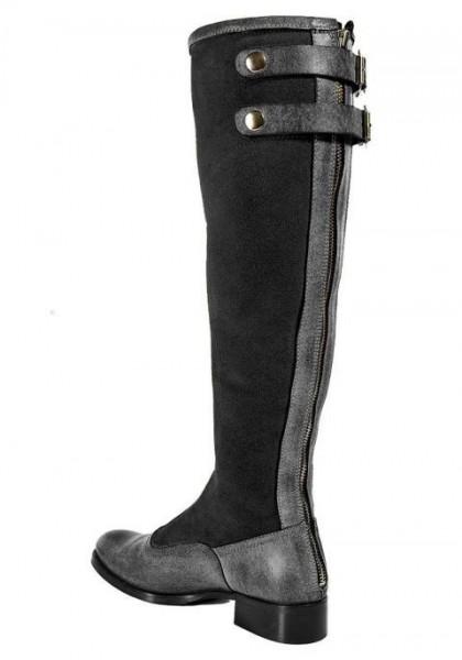 Stiefel mit Wollwarmfutter, schwarz-grau von APART
