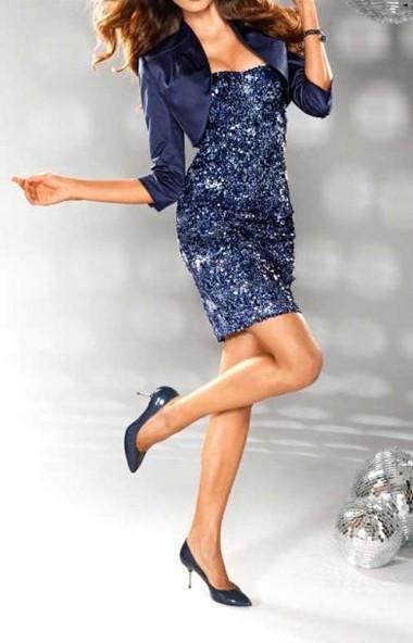 Paillettenkleid, blau von Carry Allen by Ella Singh