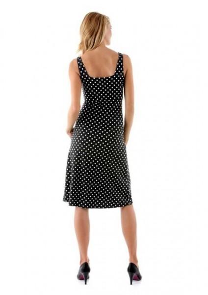 Tupfenkleid, schwarz-weiß von Vivance Collection