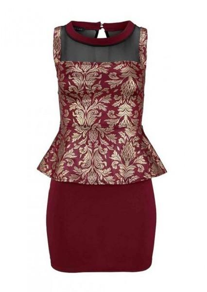 Kleid, bordeaux-gold von Melrose