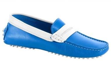 Mokassins blau-weiß von Heine