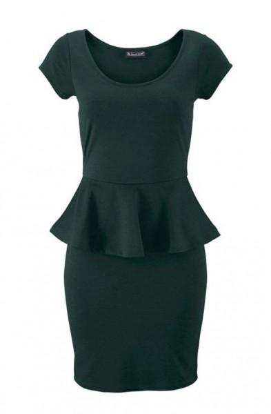 Kleid mit Schößchen, petrol von Laura Scott