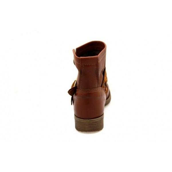 Nice Feet - Stiefelette - Damenstiefelette 800-1 Cognac