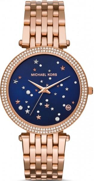 Michael Kors Damenuhr MK3728 Darci Rose Blau mit Sterne