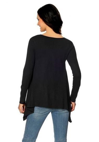 Asymmetrischer Pullover, schwarz von Laura Scott