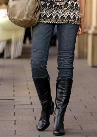 Jeans, dunkelblau von Tamaris