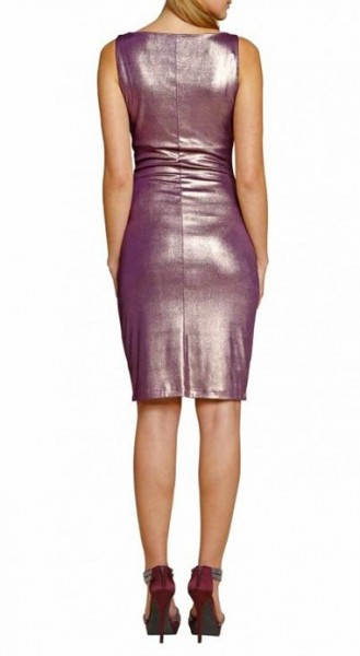 Jerseykleid, bordeaux-gold von APART