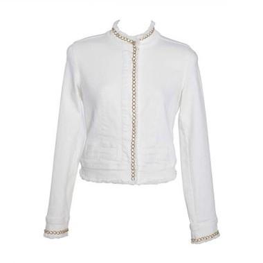 Jeansjacke, weiß-gold von APART