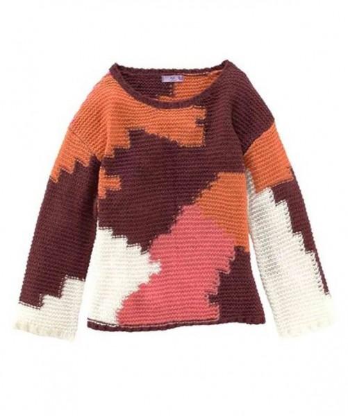Patch-Pullover, bunt von AJC