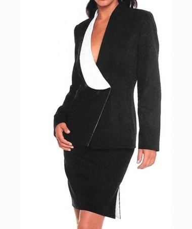 Kostüm, schwarz-creme von Ashley Brooke