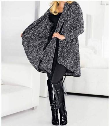 Mantel, schwarz-weiß von H****