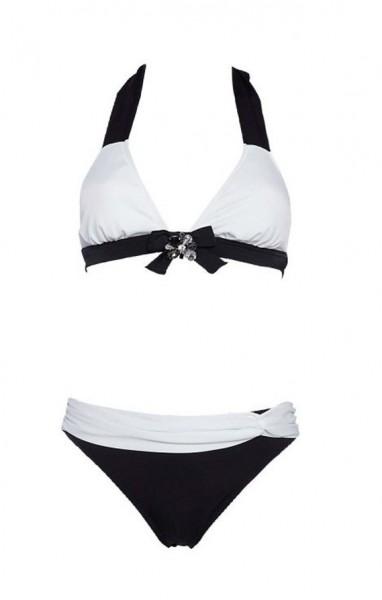 Bikini mit Strass, schwarz-weiß von APART