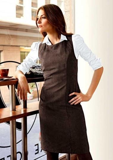 Velours-Etuikleid, braun von Aniston