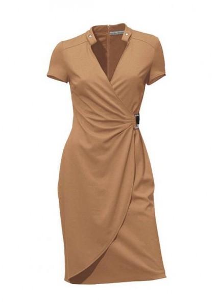Kleid, camel von Ashley Brooke
