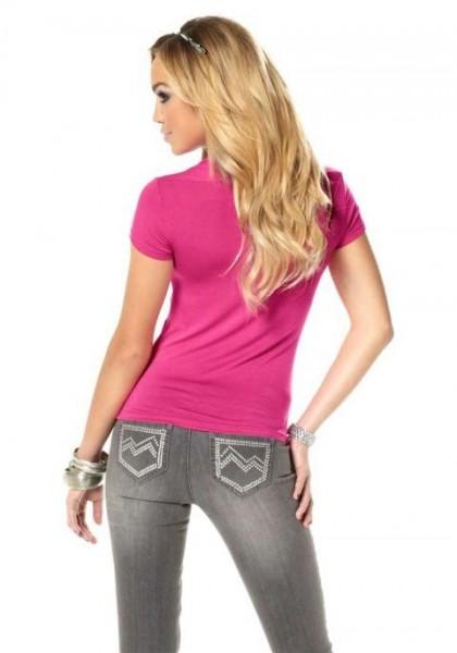 Bolero-Shirt, pink von Melrose