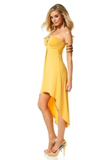 Asymmetrisches Kleid, gelb von Melrose