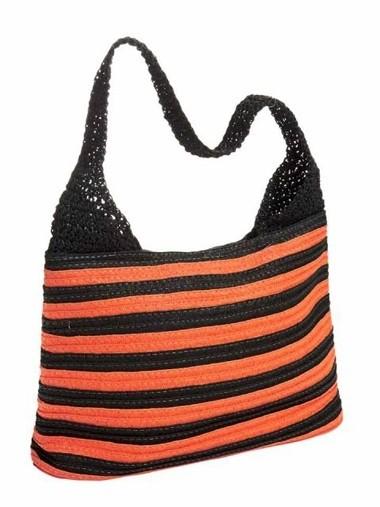 Tasche, orange-schwarz von Heine