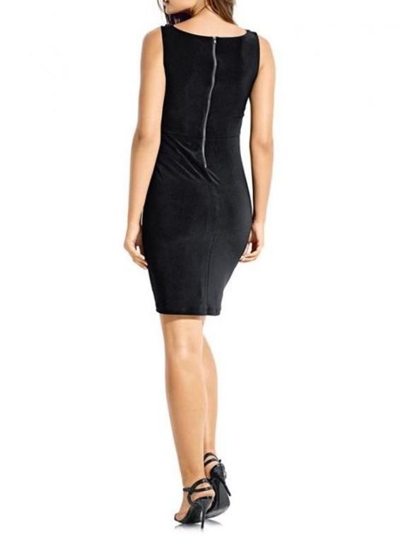 kleid mit pailletten schwarz von ashley brooke