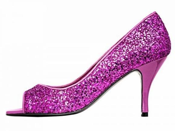 Abend-Peeptoepumps, pink von PATRIZIA DINI