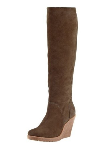 Veloursleder-Stiefel, taupe von Heine - Best Connections