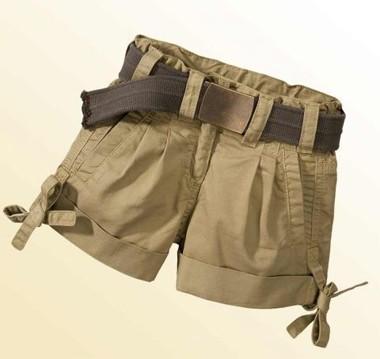 Shorts mit Gürtel khaki von GEELONG