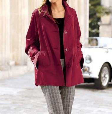 Jacke in A-Form rot von Alba Moda