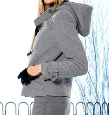 Wattierte Wollflausch-Jacke, grau von APART