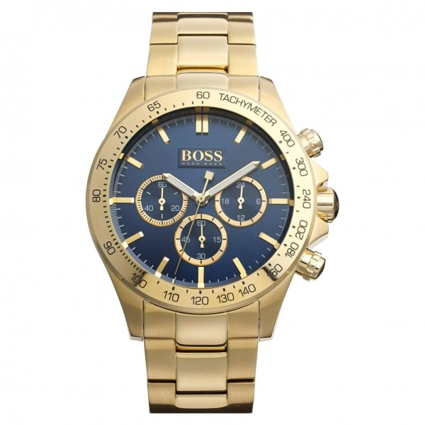 Hugo Boss Herrenuhr 1513340 Farbe Gold