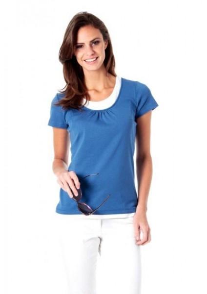 2-in-1-Shirt, blau-weiß von CORLEY
