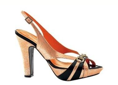 Sandalette orange-braun von Heine