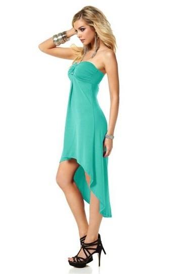 Asymmetrisches Kleid, türkis von Melrose