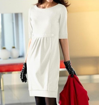 Kleid, ecru von Rick Cardona