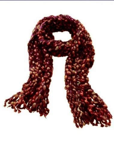 Schal, dunkelrot-braun von FRAAS