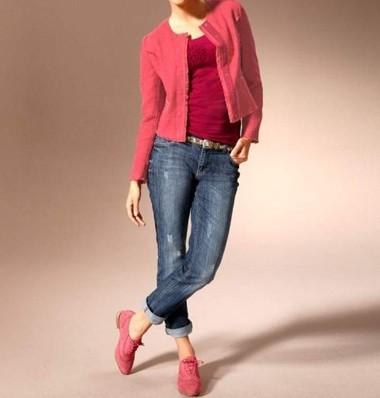 Bouclé-Blazer, pink von Mandarin