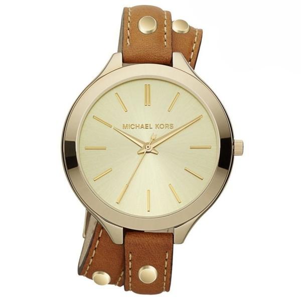 MICHAEL KORS MK2348 Uhr Damen Armbanduhr Leder/Farbe Gold
