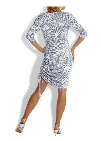 Kleid, silbergtau-weiß von Rick Cardona