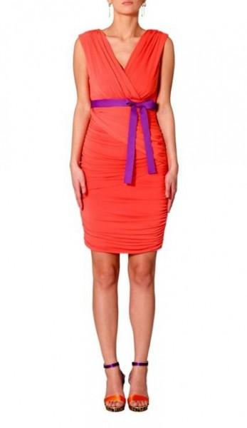 Jerseykleid mit Drapierungen, hummer-lila von APART