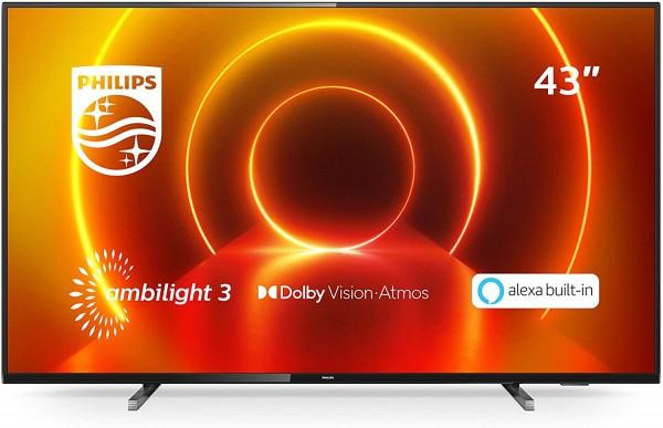 Philips Smart TV 43PUS7805 43 Zoll 4K Ultra HD LED Grau