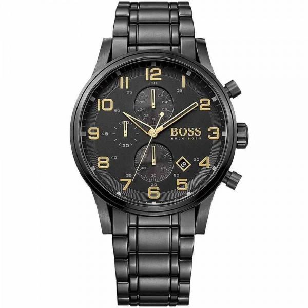 Hugo Boss Herren Armbanduhr Aeroliner Black 1513275