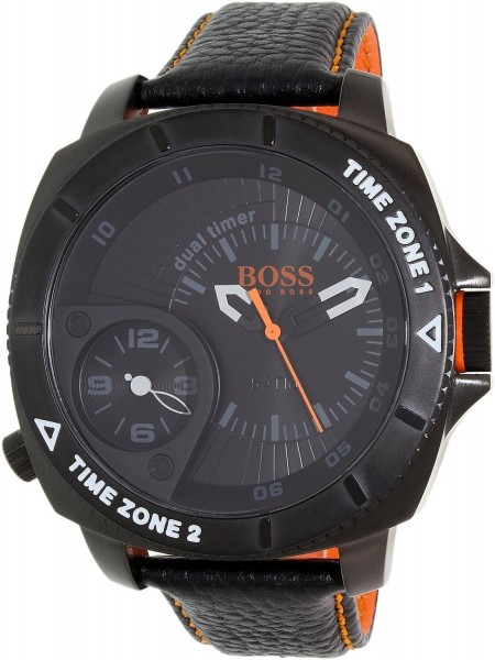 Hugo Boss Orange Herren Armbanduhr 1513221 Schwarz Leder