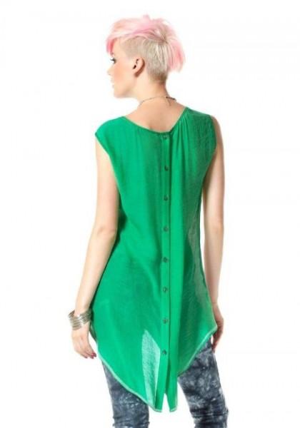 Asymmetrische Shirt, grün-bunt von Material Girl