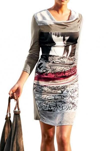 Kleid, taupe-bunt von Rick Cardona